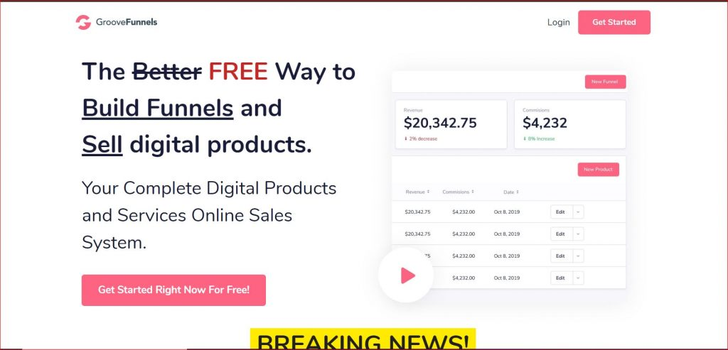 GrooveFunnels Landing Page
