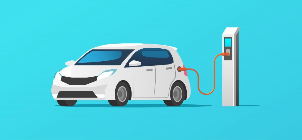 charging up an electric car